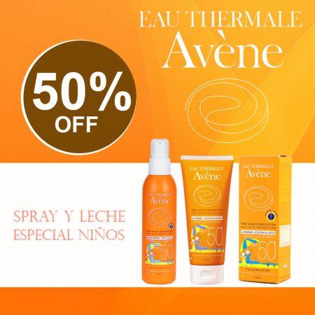 Spray y Leche especial niños Avene
