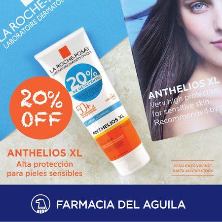 20% DE DESCUENTO. Protector Anthelios para pieles sensibles.