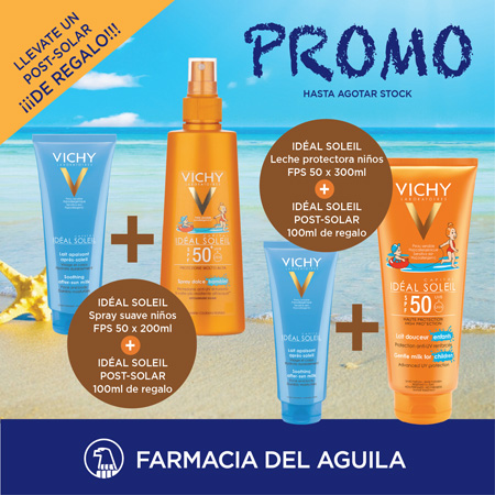 INCREIBLE PROMO. Llevate un Post solar de regalo de VICHY.